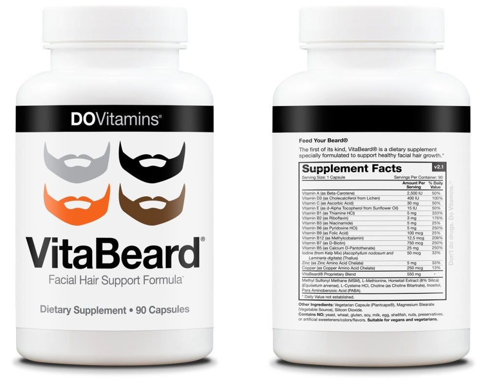 Best Beard Vitamins - VitaBeard Supplement Facts