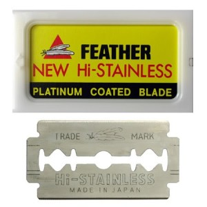 Feather Razor Blades NEW Hi-stainless Double Edge