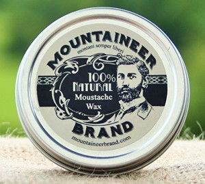 Mountaineer Brand All Natural Moustache Wax 2 Oz